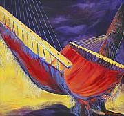 Relax Paintings - Taryns Hammock by Lois Romei Schlowsky