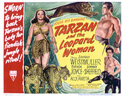 Johnny Framed Prints - Tarzan And The Leopard Woman Framed Print by Everett