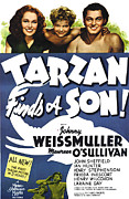 Johnny Framed Prints - Tarzan Finds A Son, Maureen Osullivan Framed Print by Everett