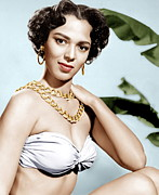 Gold Necklace Photo Framed Prints - Tarzans Peril, Dorothy Dandridge, 1951 Framed Print by Everett