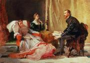 Discussion Paintings - Tasso and Elenora by Domenico Morelli