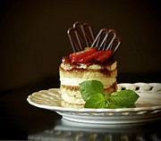 Italian Kitchen Posters - Taste of Italy Tiramisu Poster by Inspired Nature Photography By Shelley Myke