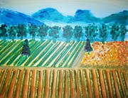Napa Valley Vineyard Prints - Taste the Vineyard Print by Alexandra Torres