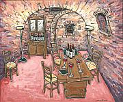 Cantina Paintings - Tasting Room at Icardi by Leslie Alexander