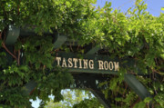 Merlot Prints - Tasting Room Sign Print by Brandon Bourdages