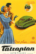 Vintage Car Advert Digital Art - Tatraplan by Nomad Art And  Design