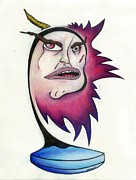 Surrealism Drawings Prints - Tattered Soul Print by Steve Weber