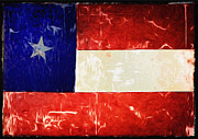 Hoods Prints - Tattered Texas Flag Print by Bill Cannon