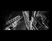 Blackandwhite Photo Posters - Tattoo Parlour on Black Poster by Brian Carson