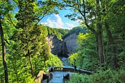 Taughannock Falls Prints - Taughannock Falls Overlook Print by Adam Jewell