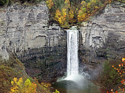 Finger Lakes Framed Prints - Taughannock Falls Framed Print by Steven  Michael