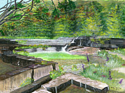 Ithaca Painting Prints - Taughannock Vista Ithaca New York Print by Melly Terpening