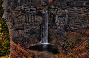 Finger Lakes Digital Art Posters - Taughannok Falls II - HDR Poster by Richard Ortolano