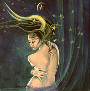 Live Art Posters - Taurus from Zodiac series Poster by Dorina  Costras