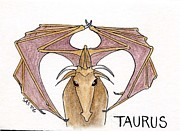 Zodiac Drawings - Taurus Zodiac by Sherri Strikwerda