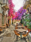Greece Photos - Tavern in Bloom by Michael Garyet
