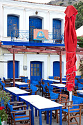 Northeastern Aegean Islands Prints - Taverna  Print by Emmanuel Panagiotakis