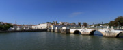 Tavira Ponte Romana And The River Print by Louise Heusinkveld