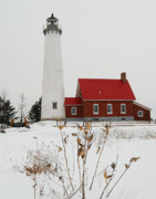 Pods Framed Prints - Tawas Point Lighthouse Framed Print by Michael Peychich