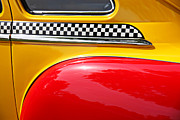 Yellow Taxis Framed Prints - Taxi 1946 DeSoto Detail Framed Print by Garry Gay
