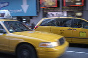 Nyc Taxi Framed Prints - Taxi Framed Print by Avery Eden