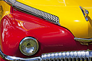 Headlight Photo Metal Prints - Taxi De Soto Metal Print by Garry Gay