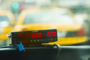Tricycle Prints - Taxi Meter Print by Tetra Images