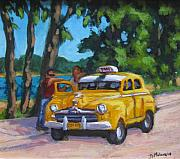 Antiques Paintings - Taxi y Amigos by John Malone