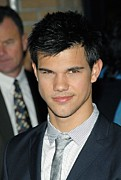 2000s Hairstyles Framed Prints - Taylor Lautner  At Arrivals For Special Framed Print by Everett