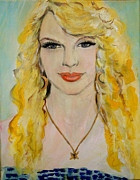 American Singer Paintings - Taylor Swift by Amanda Dinan