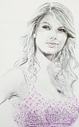 Taylor Swift Drawings - Taylor Swift by Benjamin McDaniel
