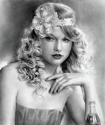 Taylor Swift Drawings - Taylor Swift by Callie Fink