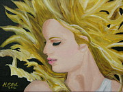 Taylor Swift Paintings - Taylor Swift Fearless by Hubert Ebel
