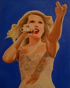 Taylor Swift Painting Framed Prints - Taylor Swift Framed Print by Kristin Wetzel