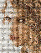 Taylor Swift Mosaic Print by Paul Van Scott