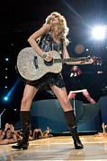 Madison Square Garden Prints - Taylor Swift On Stage For Taylor Swift Print by Everett