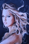 Taylor Swift Posters - Taylor Swift Painting Poster by Mikayla Henderson