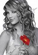 Taylor Swift Drawings - Taylor Swift by Rajacenna