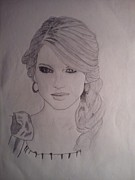 Taylor Swift Drawings - Taylor Swift by Vikram Balaji