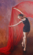 Graceful Painting Posters - Taylors Dance Poster by Anna Bain