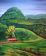 Scott Plaster Paintings - Tazewell Mountain by Scott Plaster