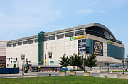 Boston Celtics Prints - TD Garden Print by Clarence Holmes