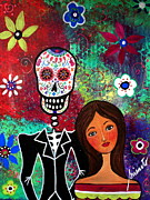Skull Posters - Te Amo I Miss You Poster by Pristine Cartera Turkus