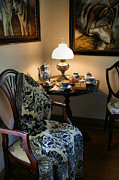 Folk Art Photos - Tea and Crumpets by Carmen Del Valle