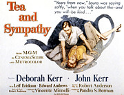 1950s Poster Art Photos - Tea And Sympathy, John Kerr, Deborah by Everett