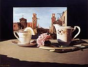 Tea Originals - Tea and Venetian Landscape by Daniel Montoya