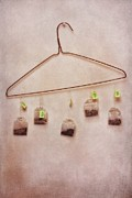 Hanger Framed Prints - Tea Bags Framed Print by Priska Wettstein