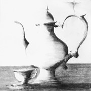James Lanigan Thompson    Mfa Bfa Metal Prints - Tea For One Ii Metal Print by James Lanigan Thompson    MFA BFA