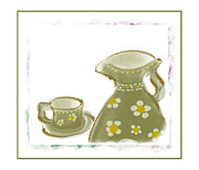 Teapot Digital Art Framed Prints - Tea For One Framed Print by Janet Palaggi