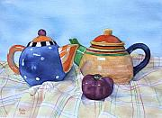 Watercolor Paintings - Tea for Two by Bobbi Price